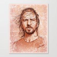 eddie vedder Canvas Prints featuring Eddie Vedder by Renato Cunha