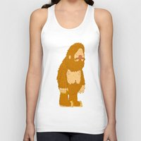 bigfoot Tank Tops featuring bigfoot by gal shkedi