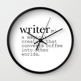 Writer Definition - Converting Coffee Wall Clock