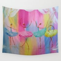 ballerina Wall Tapestries featuring ballerina by OLHADARCHUK