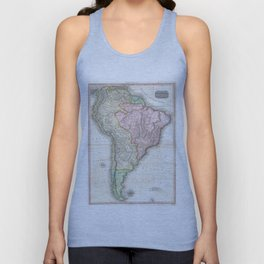 Vintage Map of South America (1818) Unisex Tank Top