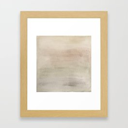 Ombre Grey Mist Watercolor Hand-Painted Effect Framed Art Print