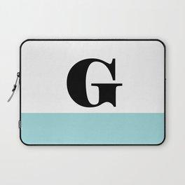 Monogram Letter G-Pantone-Limpet Shell Laptop Sleeve