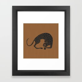 Blockprint Cheetah Framed Art Print