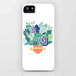 Grow Together iPhone Case