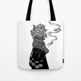 Rose and Cigarette Tote Bag