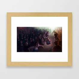The Vigil: Brooklyn in Flames Framed Art Print