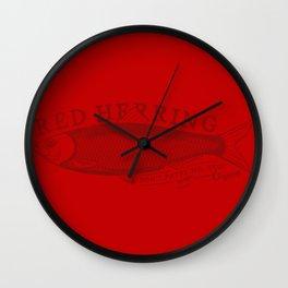 Red Herring Wall Clock