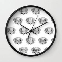 Owl Skull sketch study Wall Clock