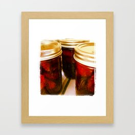 Home Made Strawberry Jam Framed Art Print