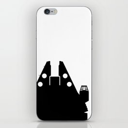 Millennium Falcon - Black iPhone Skin