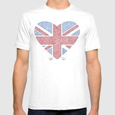 Union Jack  MEDIUM White Mens Fitted Tee