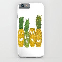 Pineapple Jack-O-Lanterns iPhone Case