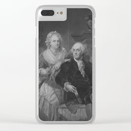 President Washington At Home Clear iPhone Case