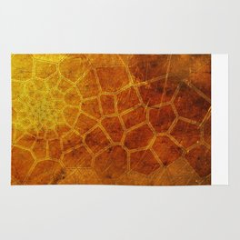 Golden Voronoi Rug