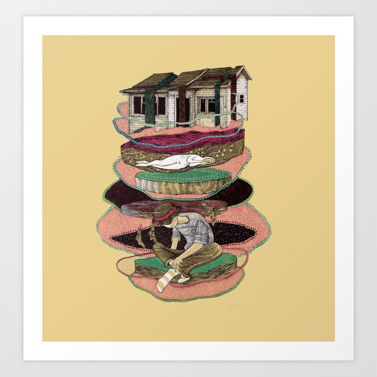 me, my criations, and my house, (or maybe not) Art Print