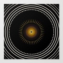 Modern Circular Abstract with Gold Mandala Canvas Print