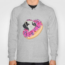 Pug Donut Strawberry Profile Hoody