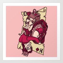 card girl Art Print