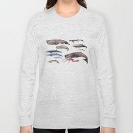 Deep sea whales Long Sleeve T-shirt