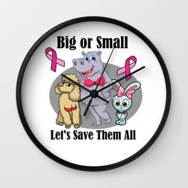 Funny Breast Cancer Awareness Art For Women Light Wall Clock