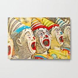 Clown Class (color graphic) Metal Print