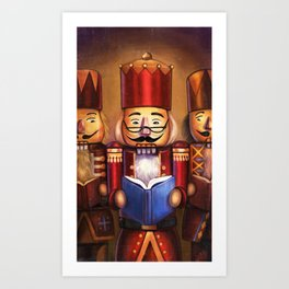 Festive Reading Art Print