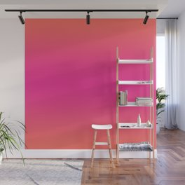 Coral Pink Ombre Gradient Pattern Orange Peachy Summer Soft Spring Texture Wall Mural
