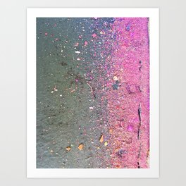 Chalk Dust Confetti Pink Crush Art Print