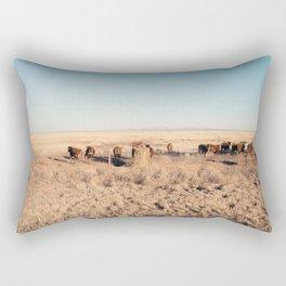 West Texas Stampede Rectangular Pillow