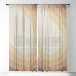 Retro Brown Sheer Curtain