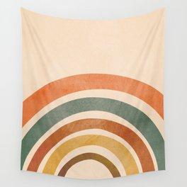 Retro Rainbow Wall Tapestry