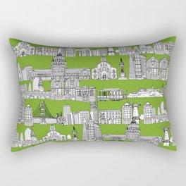San Francisco green Rectangular Pillow
