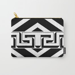 PLAIN BLACK AND WHITE MODERN ART ABSTRACT DESIGN Carry-All Pouch