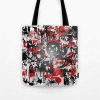 graffiti Tote Bags featuring Graffiti  by Jonna Ivin