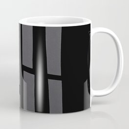 Black and Grey Paper Collage Coffee Mug