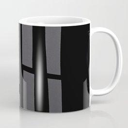 Black and Grey Paper Collage Coffee Mug