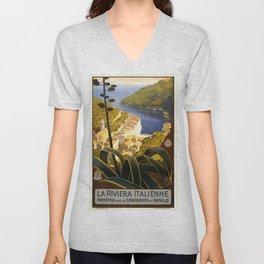 La Riviera Italienne - Italy Vintage Travel Poster 1920 Unisex V-Neck