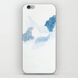 Blue house iPhone Skin