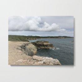Lighthouse View in Vieques Metal Print