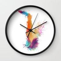 saxophone Wall Clocks featuring Saxophone by jbjart
