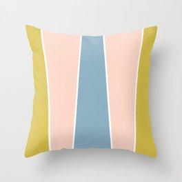 Retro Spring Color Block Throw Pillow