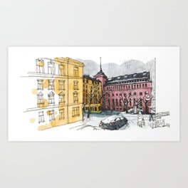 Helsinki Methodist Church Art Print