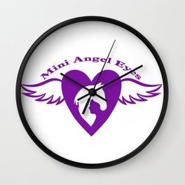Mini Mini Angel Eyes: A mini horses dream to be rescued by this organization Wall Clock