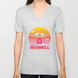 Roswell UFO conspiracy theory Area 51 gift Unisex V-Neck