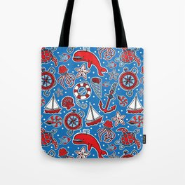 Sailing The Open Sea Tote Bag