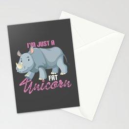 I'm Just A Fat Unicorn Shirt Funny Hippopotamus Stationery Cards