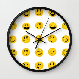 Cute Emoji pattern Wall Clock