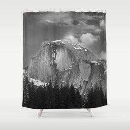 Half-Dome B&W Shower Curtain