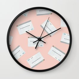 Existential Dialogue Boxes Wall Clock